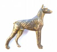 Vintage Doberman Pinscher Dog Brooch By Kenart.